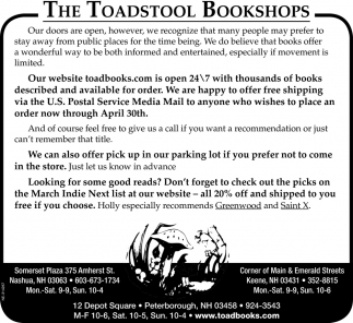 The Toadstool Bookshops