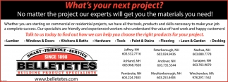 What's Your Next Project?