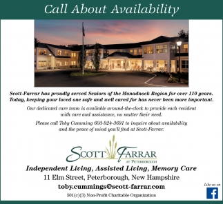 Call About Availability