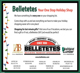 Your One Stop For Holiday Shop