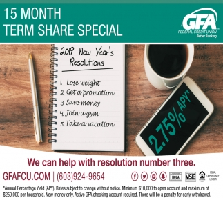 15 Month Term Share Special