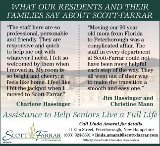 What Our Residents And Their Families Say About Scott-Farrar