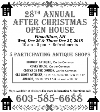 28th Annual After Christmas Open House