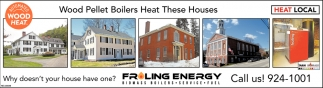 Wood Pellet Boilers Heat These Houses
