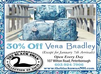 30% Off Vera Bradley