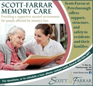 Scott Farrar Memory Care