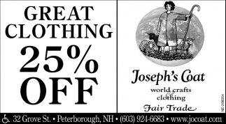 Great Clothing 25% Off