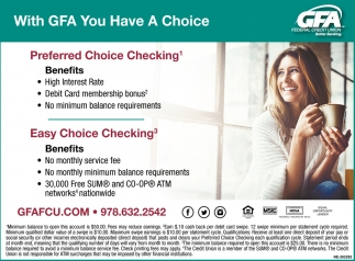 With GFA You Have A Choice