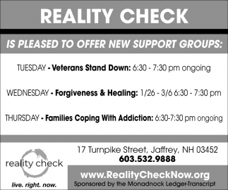 Is Pleased To Offer New Support Groups