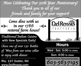 Now Celebrating Our 30th Year Anniversary!