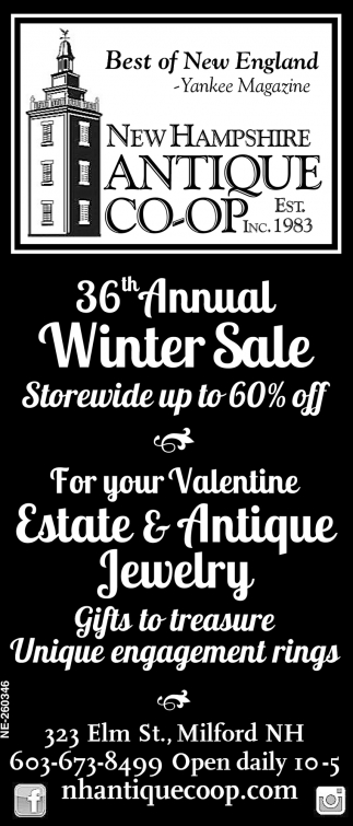36th Annual Winter Sale!