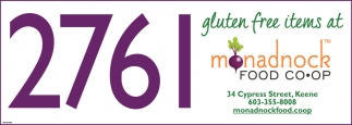 Gluten Free Items At