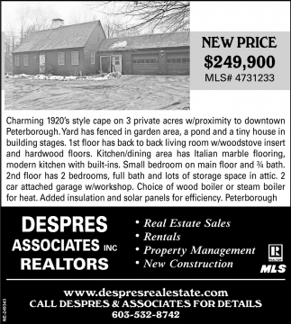 Real Estate Sales