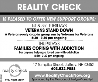 Is Pleased To Offer Support Groups