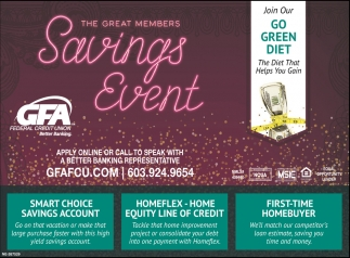 The Great Members Savings Event