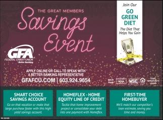 The Great Members Savings Event