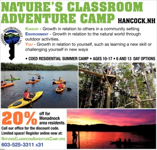 20% Off For Monadnock Area Residnets