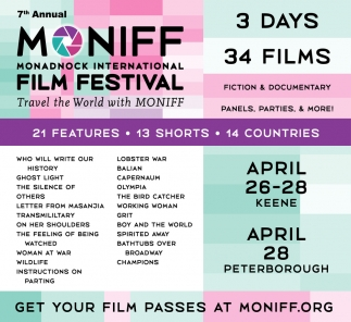 7th Annual Moniff Monadnock International Film Festival