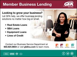 Member Business Lending