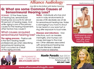 Common Causes Of Sensorineutral Hearing Loss?